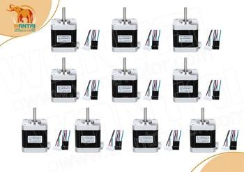 (USA Ship, high quality, No Taxes) 10PCS 42BYGHW609-X1, Nema17, 1.7A, 4000g.cm,Stepper Motor 3d Makebot printer, I3