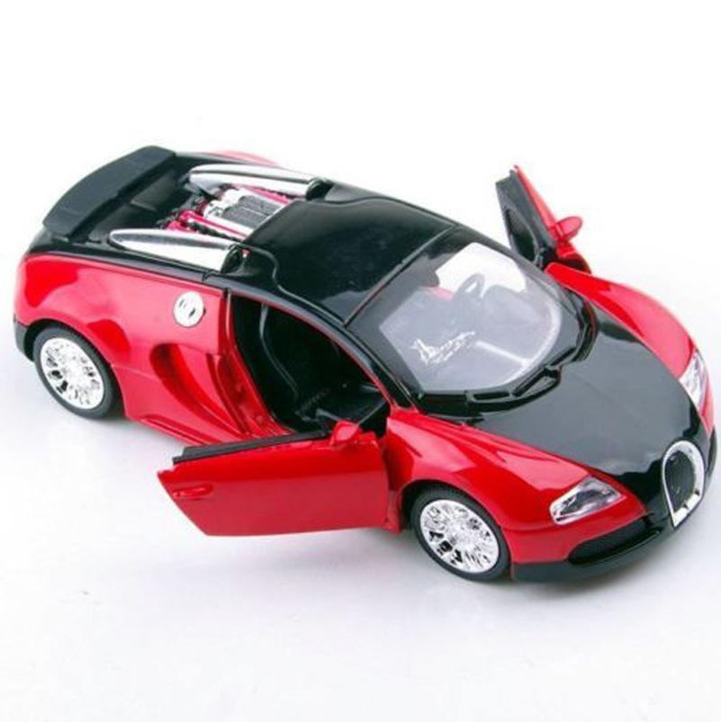 1:36 Scale Bugatti Veyron Diecast Car Model With Sound&Light Collection Car Toys for Boys Gifts Collections Displays