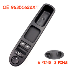 NEW Car NEARSIDE DRIVER FRONT ELECTRIC WINDOW SWITCH FIT FOR PEUGEOT 307 00 05 HIGH QUALITY 96351622XT high quality auto accessories master power window switch 9 pins for peugeot 307 2000 2005 96351622xt