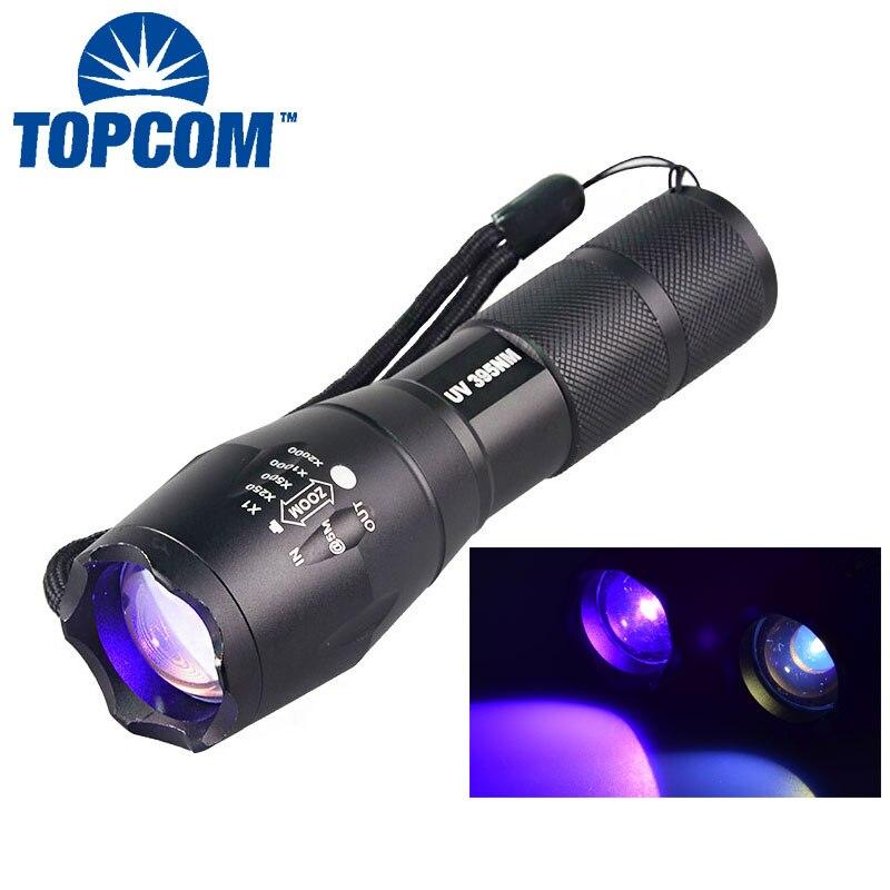 [Freies schiff] Eine neue Militärischen Grad taktische uv taschenlampe G700 E17 UV-LED 365NM UV 395NM Nichia
