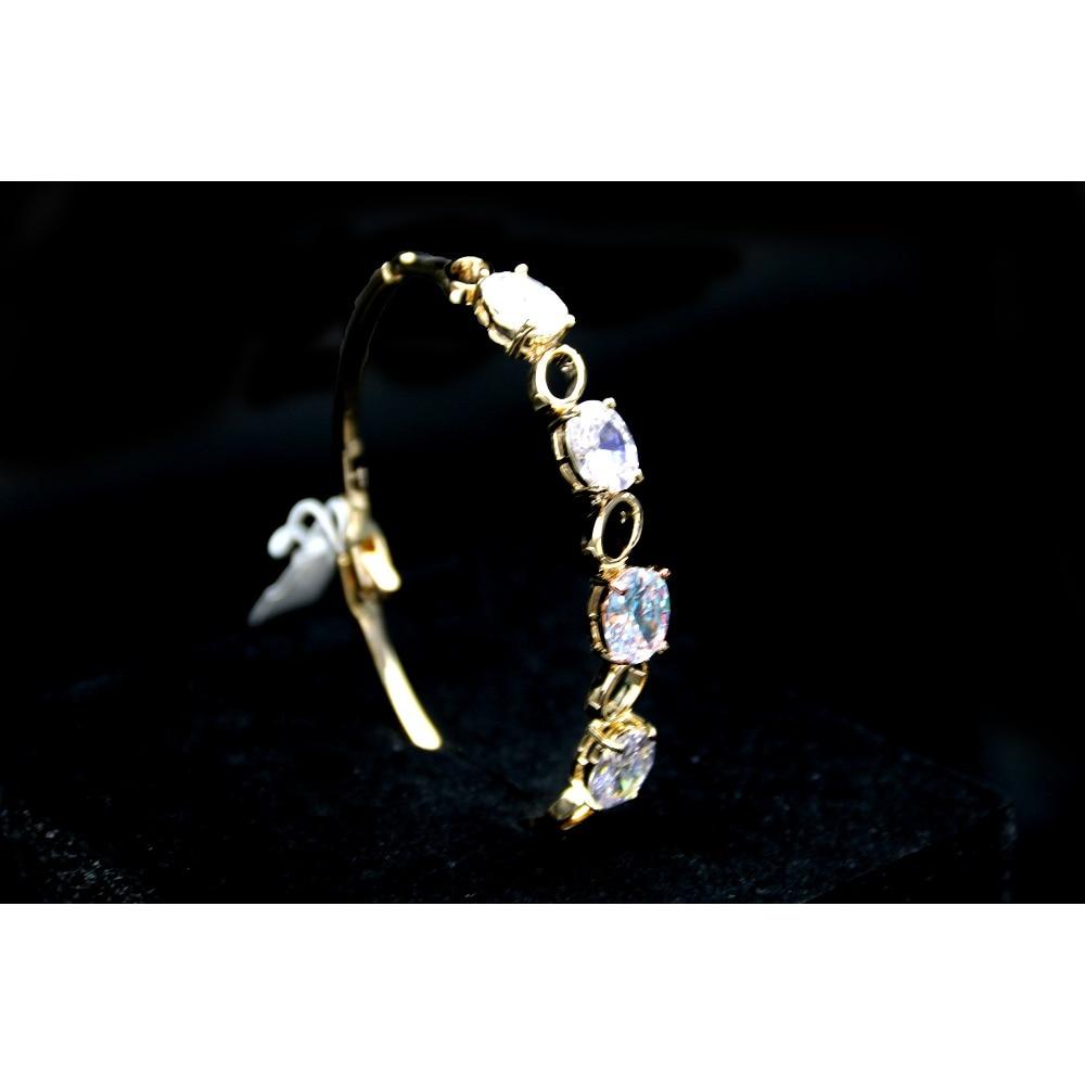 Klug Madalena Sarara Aaa Zirkon Intarsien Armreif Mädchen Der Armband Großen Zirkon Glanz Stil So Nette Für Geschenk Gold Ton Kupfer Armband