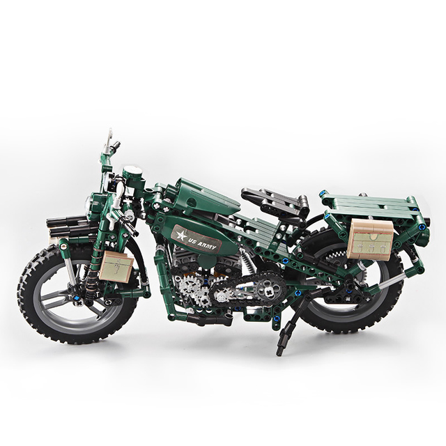 Large Technic US Army Motorcycle 3