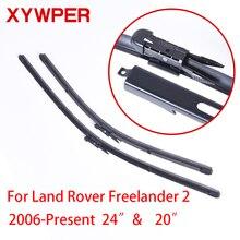 XYWPER Wiper Blades for Land Rover Freelander 2 2006  2010 2012 2014 2016  24″&20″ Car Accessories Soft Rubber  Windshield Wiper