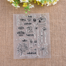 YaMinSanNiO Celebrate Flower Stamp Scrapbooking New 2018 Album Embossing Silicone Transparent Clear Stencils