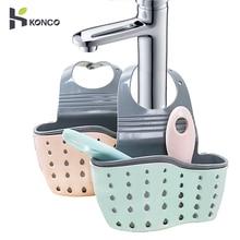 KONCO портативный подвесной органайзер для слива раковины, прочный дизайн слоя, держатель губок на раковине, держатель для мыла, стеллажи, корзина для хранения