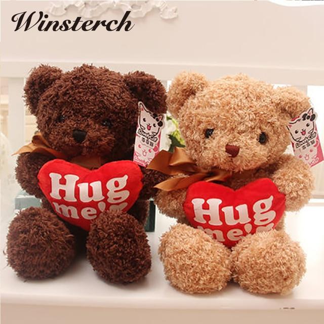 2017 Lovely Hug Me Heart Teddy Bear Plush Toy Cute Peluche Teddy ...
