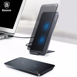 Baseus Wireless Charger For iPhone X Samsung Note 8 S8 plus S7 Edge Mobile Phone Charger QI Wireless Charging Docking  Station