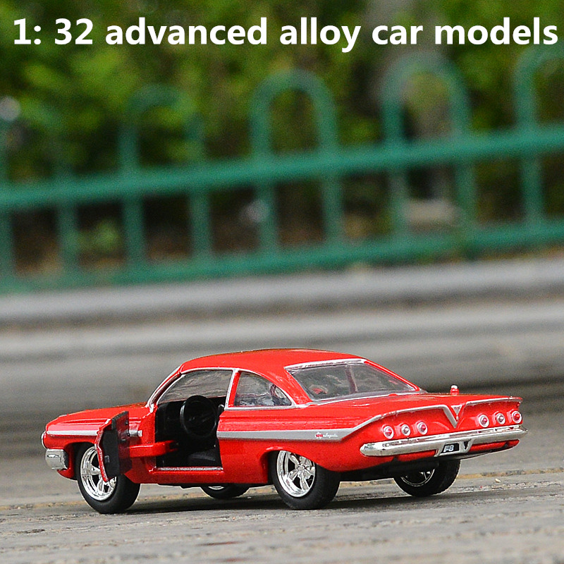 1: 32 Advanced Alloy Car Models,high Simulation Chevrolet 1961 IMPALA Vehicles Model,metal Diecasts,toy Vehicles,free Shipping