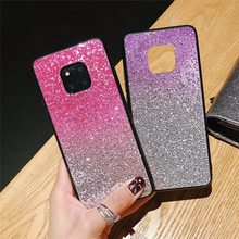 Colorful Gradient Bling Glitter Phone Case for Huawei Mate 20 Lite Mate 10 Pro P10 P20 Luxury Soft Case for Honor 8 9 Lite 10 8X(China)