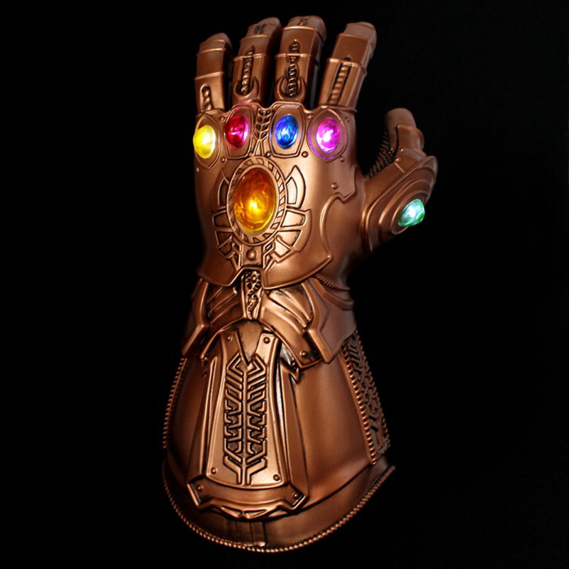 LED Light Thanos Infinity Gauntlet Avengers Infinity War Cosplay LED Gloves PVC Adult Kids Toys Gift Costume Props w/Retail Box