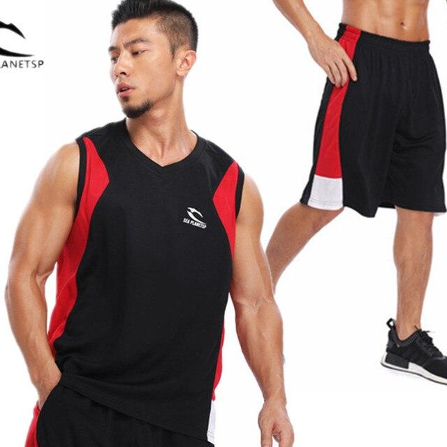 2018 Merek Pria Gym Olahraga Track Suit Pria Set Baju Olahraga Pria Pria  Keringat Tuta Cocok 25a79062b1