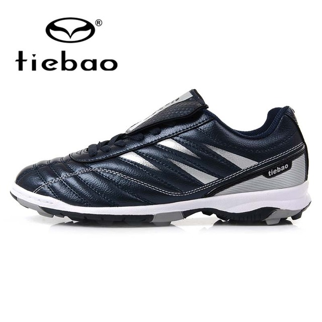 TIEBAO Professional Boy Kids Soccer Sneakers High Elast Soft PU A Short Nails 2016 New Style Football Soccer Waterproof