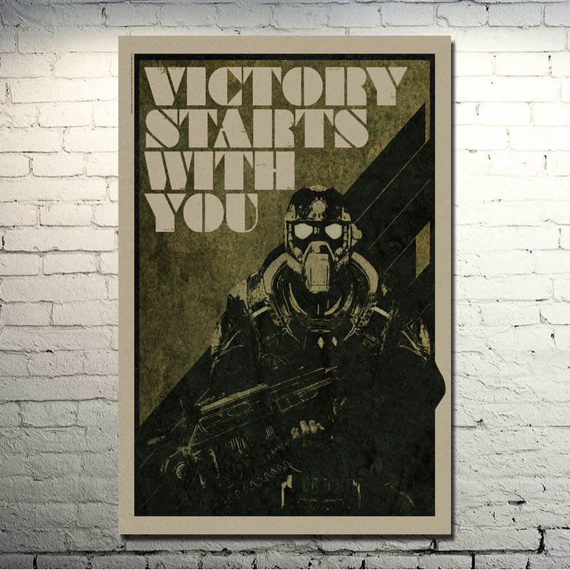 Gears of War 3 4 Art Silk Poster Print 13x20 20x30 inches Hot Military Shooting Game Pictures For Living Room Decor 008