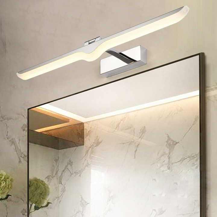 LED Acrylic Wall Mount Light Bathroom Makeup Mirror Picture Lamp SMD 2835 Hotel