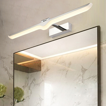 Indoor 9W/12W/14W/16W LED Wall mount Light Acrylic makeup Mirror Front Lamp Fixture SMD 2835 bathroom silver shell