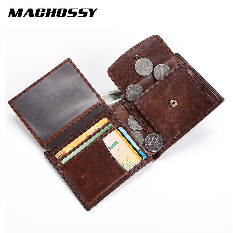 Vintage Men Wallets Soft Genuine Leather Wallet Large Capacity Male Handmade Natural Skin Coin Purse Cowhide Short Wallets
