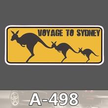 A-498 Känguru Wasserdicht Mode Kühle DIY Aufkleber Für Laptop Gepäck Skateboard Kühlschrank Auto Graffiti Cartoon Aufkleber