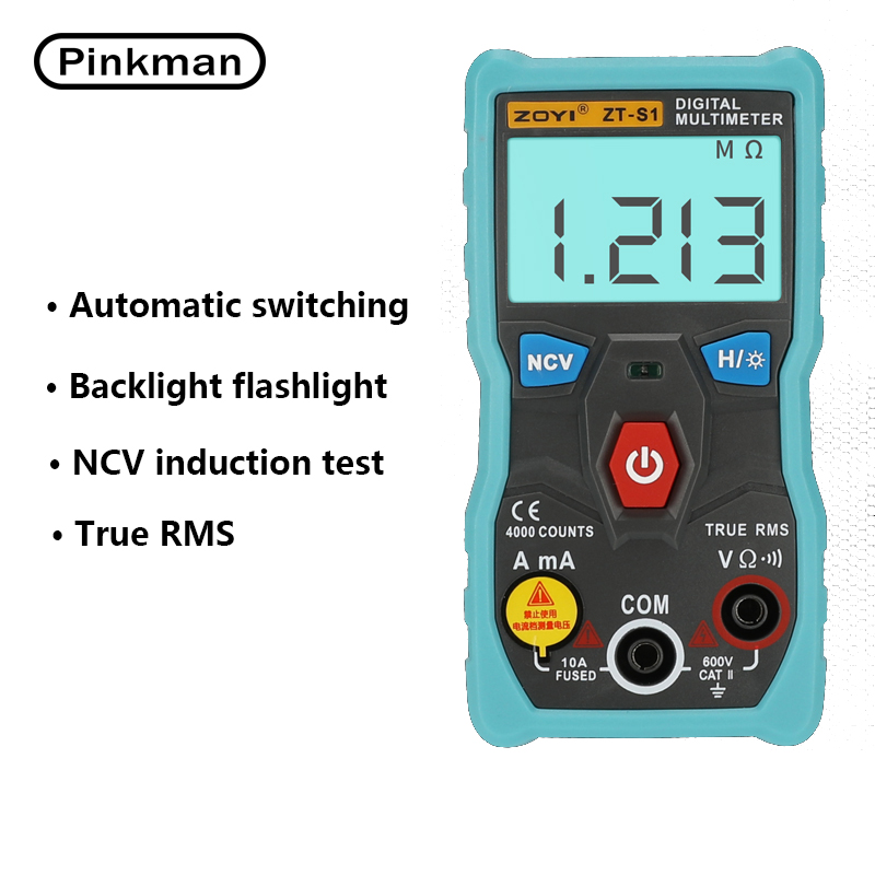AC DC LCD Display Electric Handheld Voltmeter Ammeter Ohm Tester Meter Digital Multimeter Multimetro newacalox electrical instrument lcd digital multimeter ac dc ammeter voltmeter ohm portable clamp meter tester tool