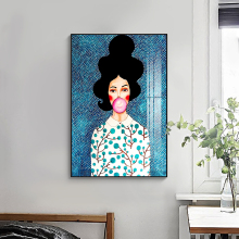 Nordycki współczesny styl Handdraw postacie kolorowe płótno obraz plakat wystrój z nadrukiem obrazy na ścianę do salonu sypialnia tanie tanio TIMES GIRL Płótno wydruki Olej Nordic Unframed Oddzielne Malowanie natryskowe Pionowe Prostokąta Nowoczesne Photography painting