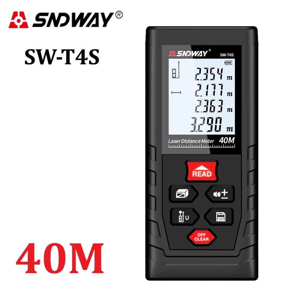 SNDWAY Medidor láser de distancia de 40 m telémetro láser Trena cinta láser medida distancia de gobernante y accesorios osciloscopios de la ruleta de la herramienta
