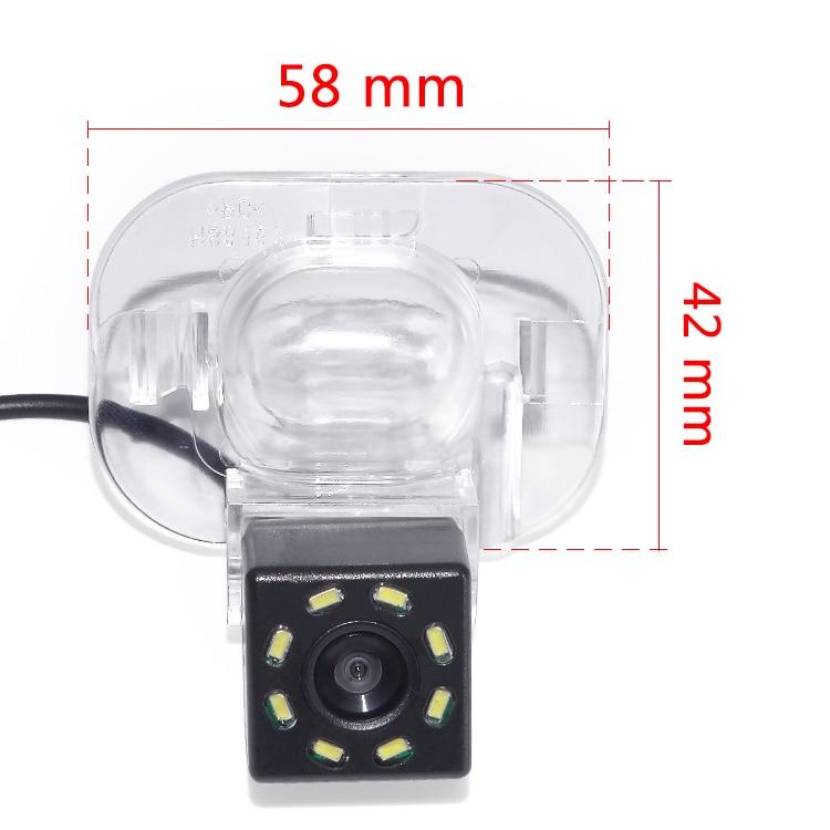 Winnida carro ccd 8led visão noturna estacionamento reverso câmera de visão traseira à prova dwaterproof água para hyundai verna solaris sedan para kia forte