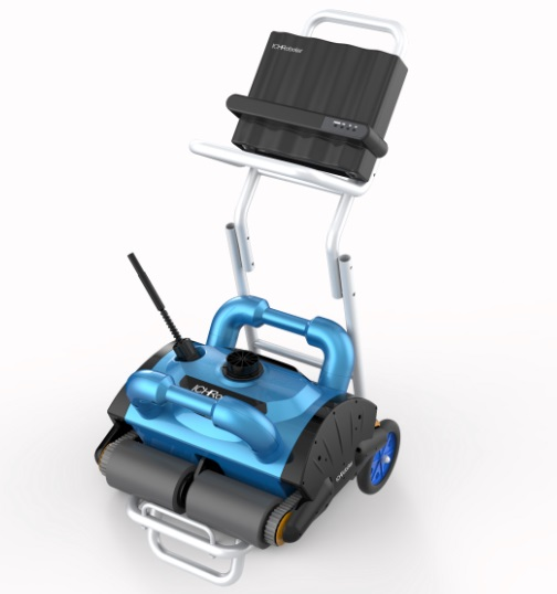 Free Shipping Robot Swimming Pool Cleaner iCleaner-200 With 15m Cable and Caddy Cart For Big Pool Automatic Cleaner Pool Cleaner new brand auto swimming pool cleaner with 70micron filter bag porosity 24dv motor voltage cable15m remote control wall climbing