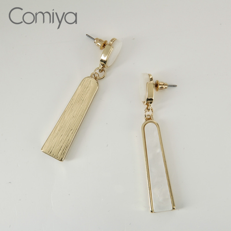 Comiya Designer Dangle Earring Geometric Acrylic Accessories Mosaic Long Elegant Drop Earrings For Women Bisuteria Feminino Cc In From Jewelry