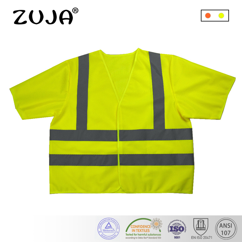 Workplace Safety Supplies Safety Clothing High Visibility Safety Work Vest Breathable Mesh Vest Crease-Resistance