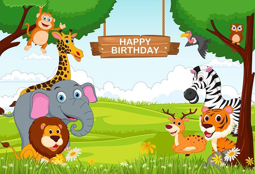 Mehofoto Jungle Safari Themed Birthday Party Baby