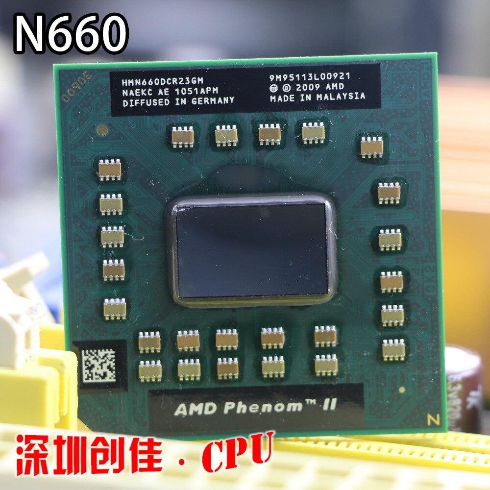 D'origine AMD Phenom Dual-Core Mobile N660 HMN660DCR23GM 3.0 Ghz notebook CPU pour ordinateur portable processeur M340 M360 P320 P340 N350 N370 p520