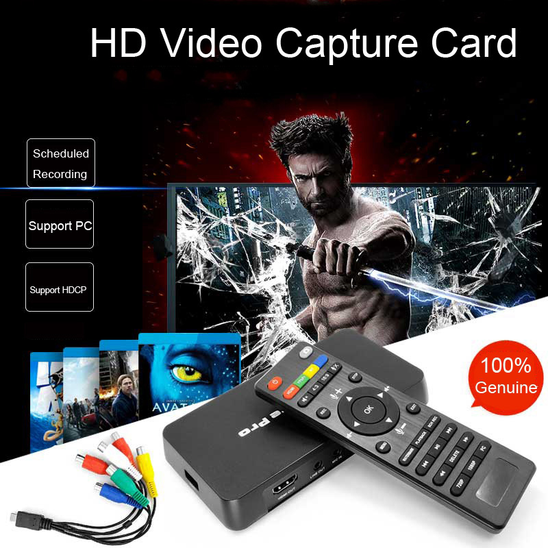 HD Video Capture HDMI Ypbpr AV Recorder OBS YPBPR Playback For  PS3 PS4 TV Box