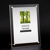 Оптовая продажа прозрачная бумага фоторамка Современная рамка для картин ручной держатель прямоугольник рамки для свадебных фотографий р...