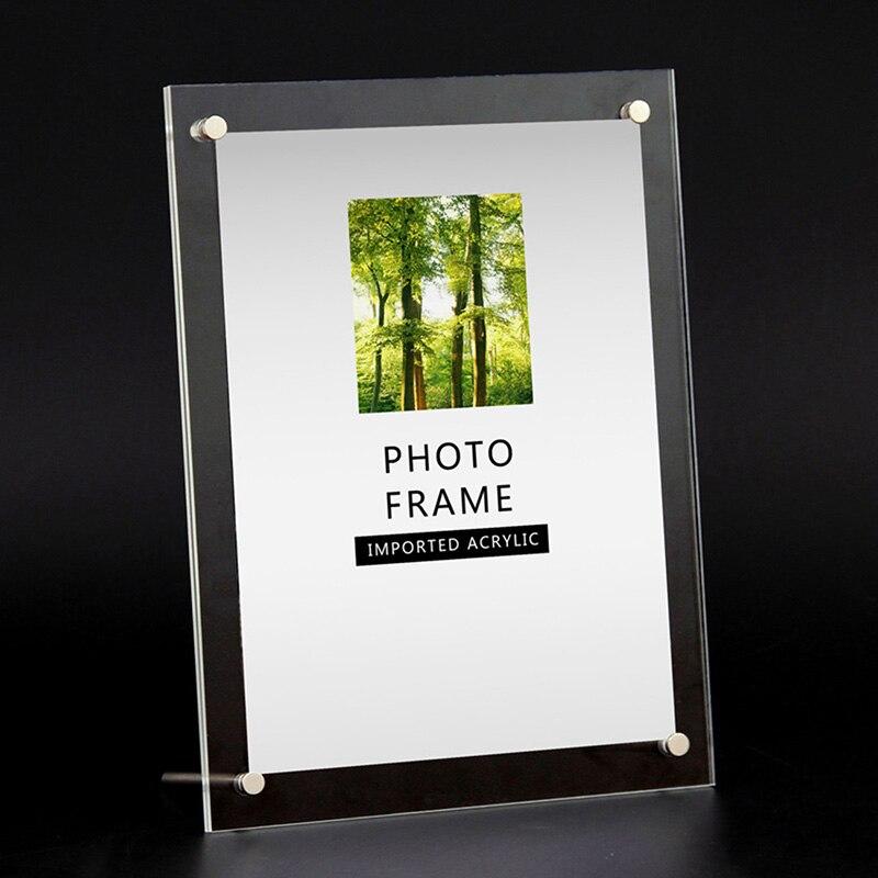 Marco de fotos de papel transparente al por mayor soporte de marco de fotos de boda rectangular para imagen 6/7/8 /10/12 pulgadas