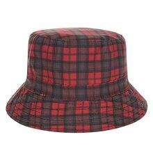 2017 Summer Harajuku Flat Bucket Hats 3D printed England Style Beach Hat Hip Hop tartan Aztec