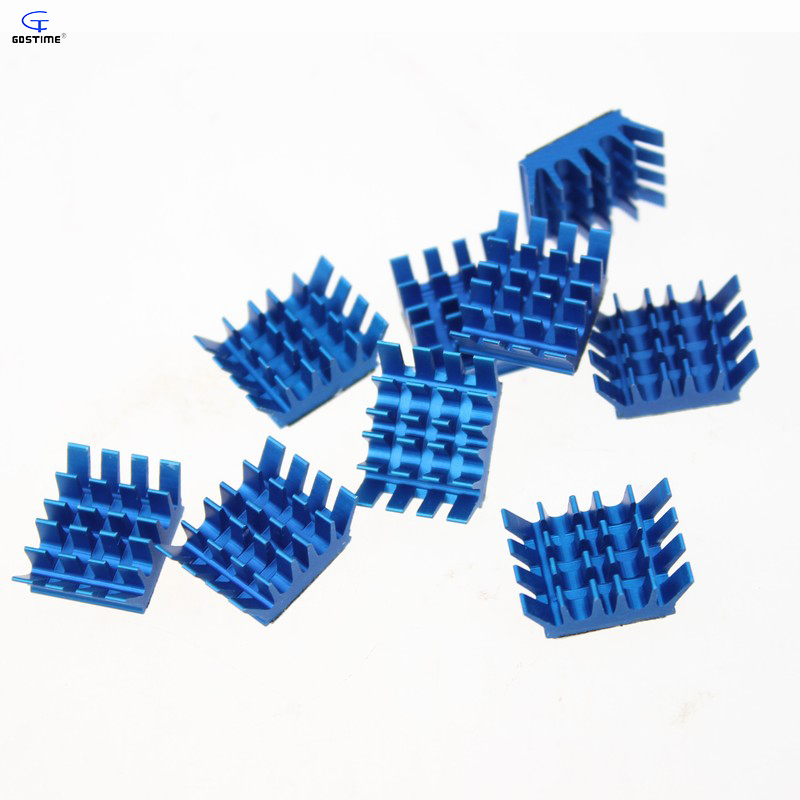 20 Pieces/Lot Blue Mini Aluminum Heatsink Cooling Heat Sinks Cooler IC VGA RAM DDR X360 GDT-X8 mastech ms2115b digital ac dc clamp metewith 6000 counts ncv true rms ac dc voltage current tester detector with usb