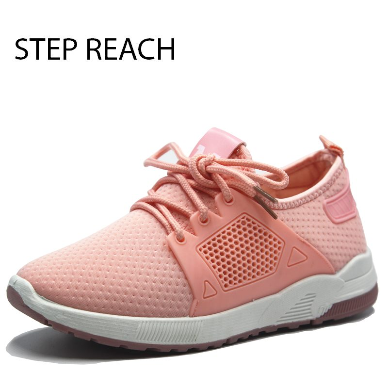 STEPREACH Brand shoes woman women tenis feminino zapatos mujer sneakers sapato feminino breathable comfortable flats casual instantarts women flats emoji face smile pattern summer air mesh beach flat shoes for youth girls mujer casual light sneakers