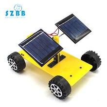 SZ STEAM DIY kids Science Experiment Electric Science Model Kits physics technology toys Solar car STEM Educational toys SZ33a1