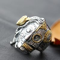 925 Sterling Silver Ring and skull Silver Ring retro silver ring