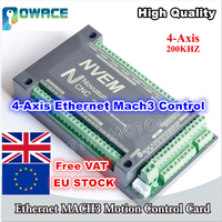 [EU Delivery] 4 Axis 200KHZ NVEM CNC Controller Ethernet Mach3 Motion Control Card for Stepper Motor Servo Motor