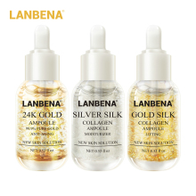 LANBENA Gold Silk+Silver Silk+24K Gold Ampoule Serum Collagen Anti-Aging Reduce