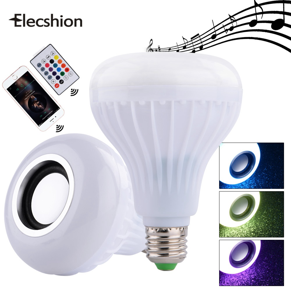 Elecshion Lighting Light Led E27 Bathroom Fixture Novelty Lamp Bluetooth Music RGB Speakers Ceiling Smart Spotlight For Home small music tesla coils plasma speakers wireless lighting ion windmills electronic toys gifts