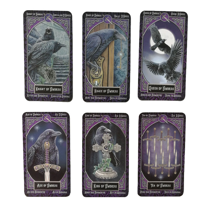 78 Cards Familiars Intimate Tarot Cards English Spanish French German Version Mysterious Animal Magic Divination Cards Gam