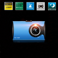 Slim 3 Car Camera DVR 170 Degree Dvrs Dashcam Parking Recorder Video Camcorder HD 1080p Night Vision Black Box Dash Dam G30