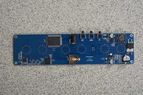 Deoxygene New DIY in14 in4 Nixie Tube digital LED clock gift circuit board  kit PCBA, No tubes