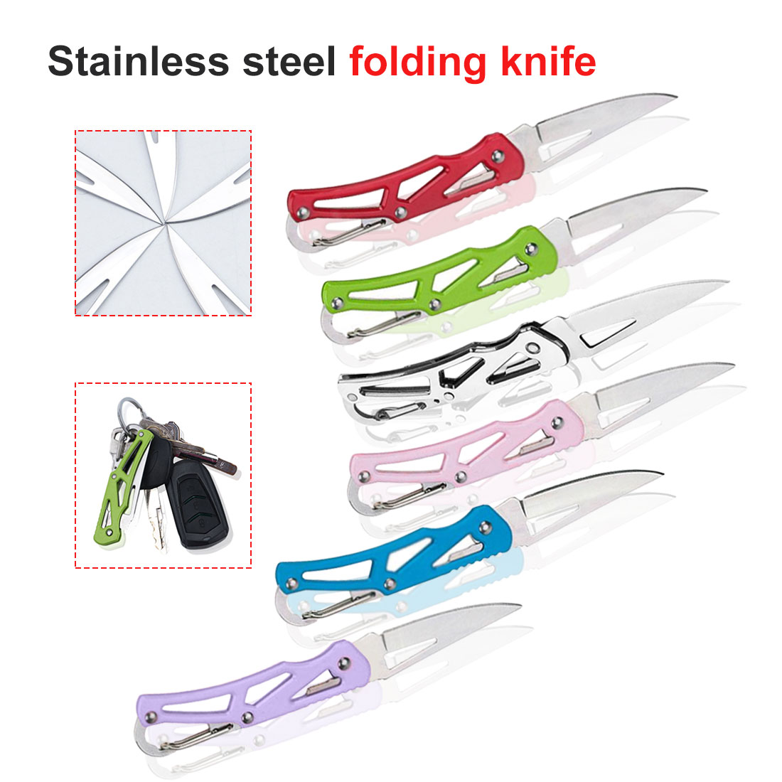 Outdoor Survival Tool  140mm Practical Camping Stainless Steel Foldable Pocket Knife Mini Portable Folding Knife Fruit Cutter