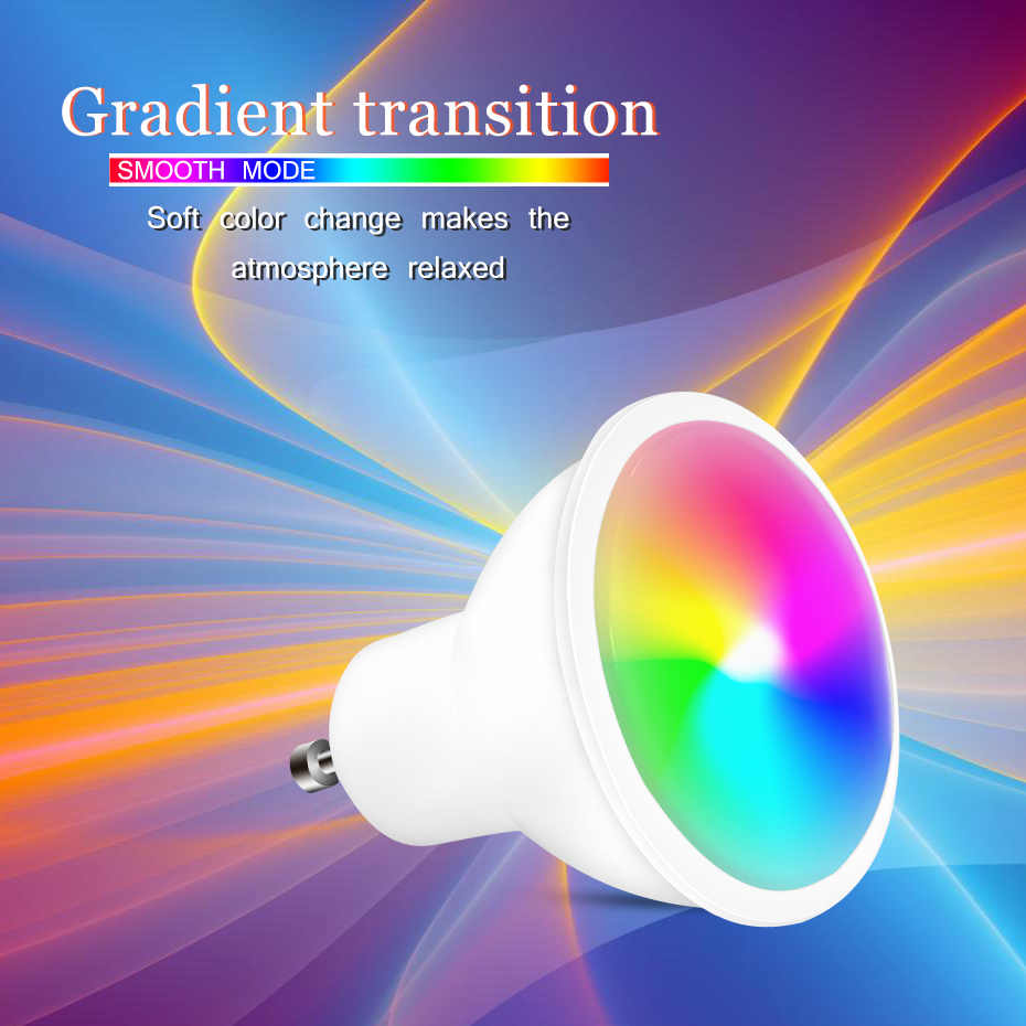 New 110V 220V RGB Bulb Lamp RGB LED GU10 8W LED Lamp Light Led Spotlight Spot Light 16 Color Change Dimmable Lamp For Home Party