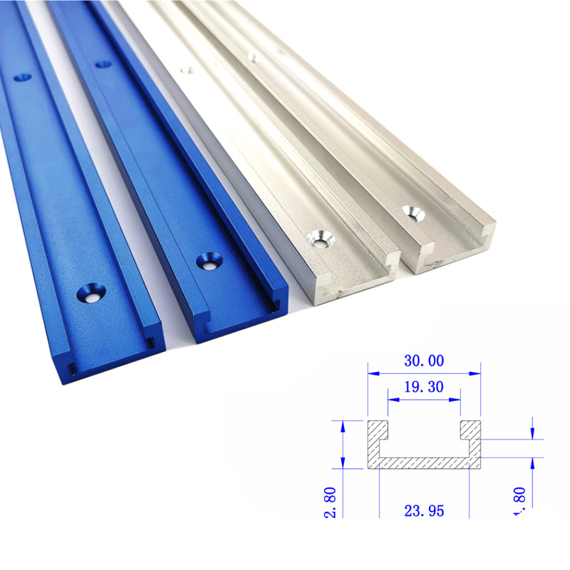 300-800mm Woodworking T-slot Miter Track Aluminum Alloy T-Track Miter Gauge Track Slot for Wood working Workbench Tools(China)