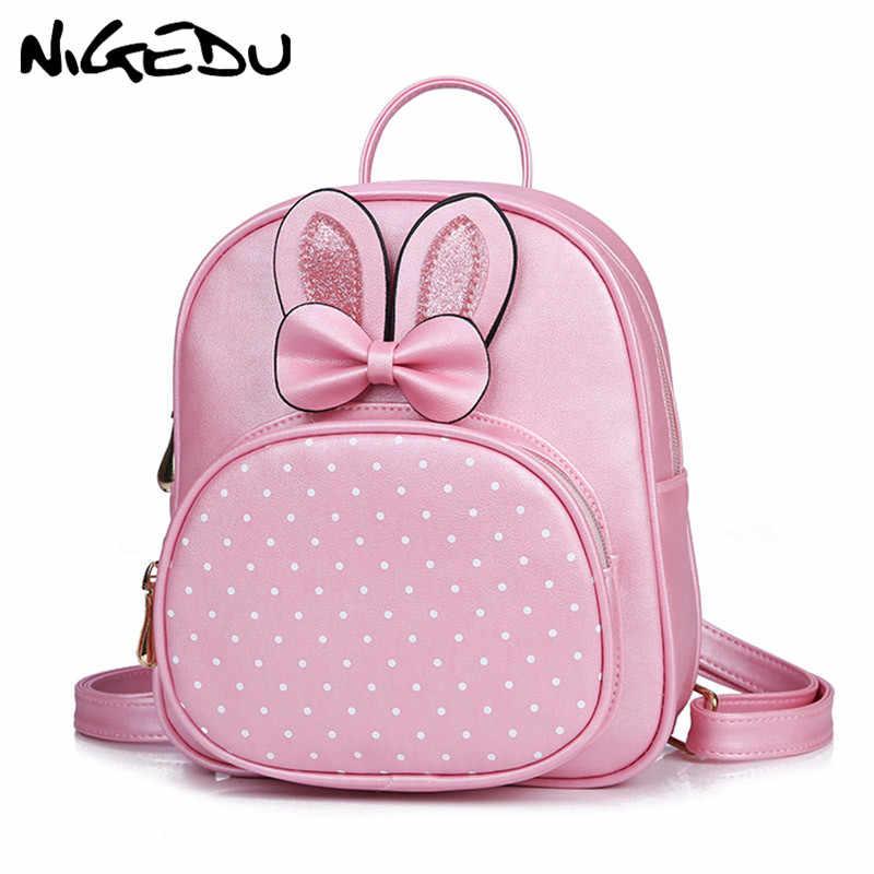 82d8f22e606a Cute mini backpack for children PU leather schoolbag backpack for girls  Lovely shoulder bag small backpacks