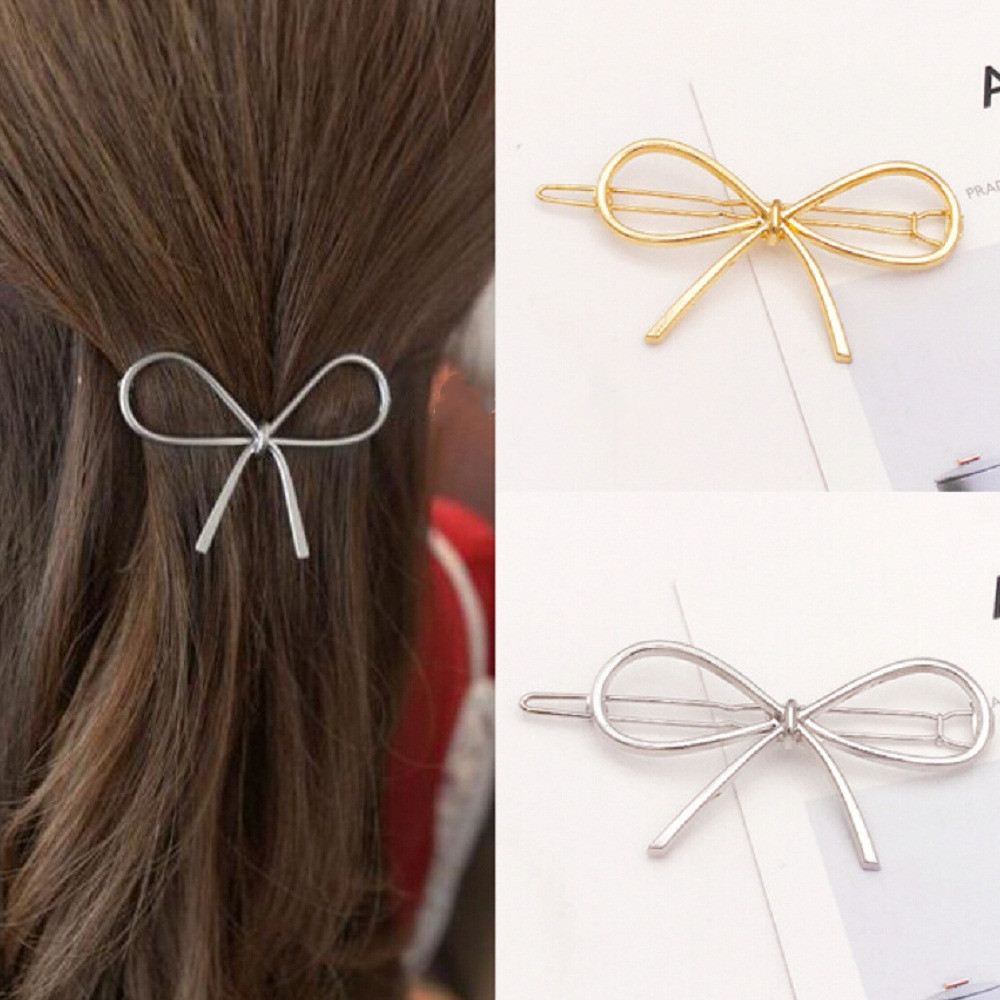 Fashion Metal Geometric Triangle Hair Clips For Woman Girls Hairband Moon Circle Hairgrip Barrette Hair Accessories New Arrivals