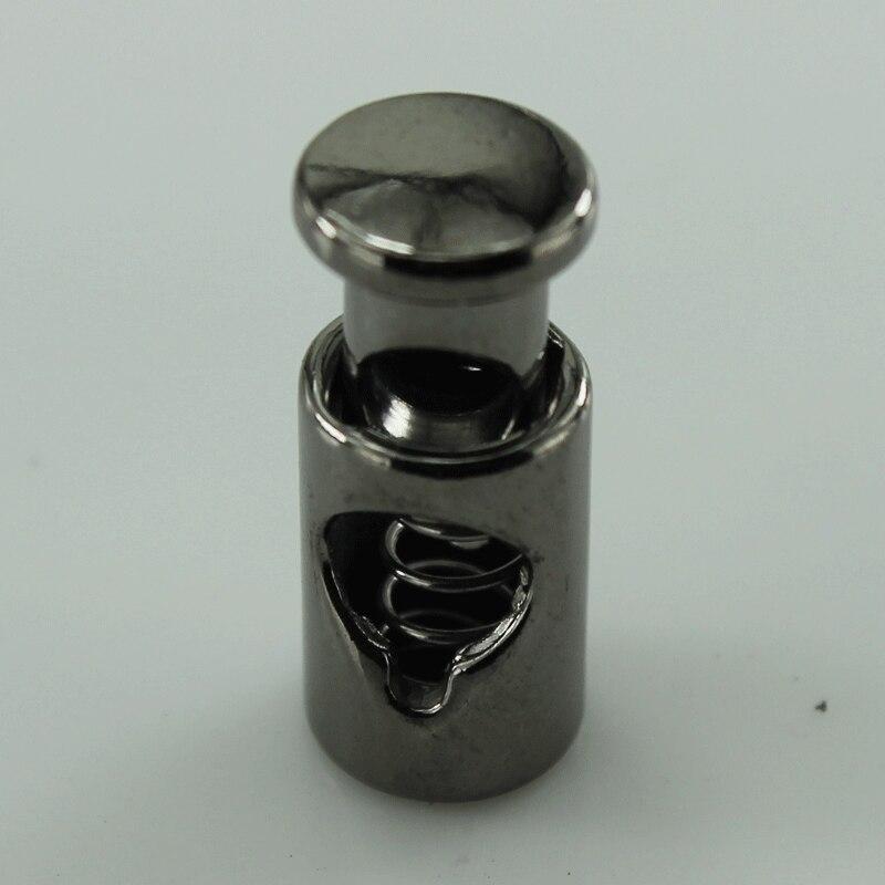 (200 шт./лот) Темно-серого цвета металла, Гальваника пробкой, нержавеющая сталь шнур end аксессуаров для одежды